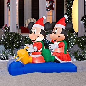 Amazon.com : 5 ft. Airblown Lighted Mickey and Minnie's ...