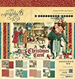 """Graphic 45 Double-Sided Paper Pad 8""""X8"""" 24/Pkg A Christmas Carol, 3 Each Of 8 Designs"""