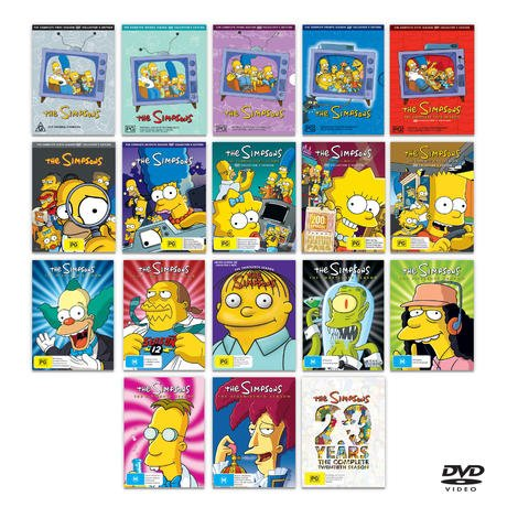... Simpsons Complete Series Collection Seasons 1-17 and Season 20 (DVD