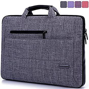 Brinch Multi-functional Suit Fabric Portable Laptop Sleeve Case Bag for 15.6-Inch Laptop
