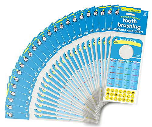 Tooth Brushing Stickers and Chart: Bulk 24 Pack Great for Toychest Giveaways! (Hygiene Chart compare prices)