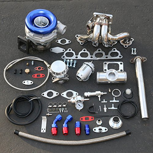 Honda D-Series High Performance 13pcs T04E Turbo Upgrade Installation Kit (97 Honda Civic Turbo Kit compare prices)