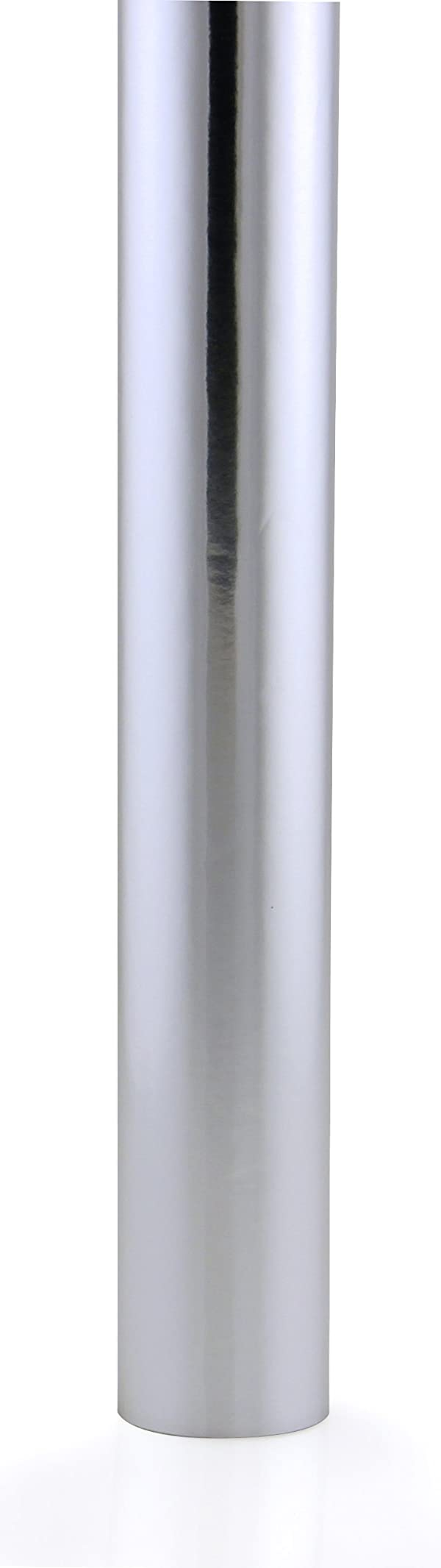 Hygloss Products, Inc ft Hygloss Products Metallic Foil Paper Gift Wrap Roll, 26-Inch x 25-Feet, Silver, 26 Inch (Color: Silver, Tamaño: 25 Ft. x 26 Inch)