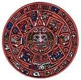 Aztec Mayan Doomsday Calendar Iron-On Embroidered Piedra Del Sol Sun Stone Patch