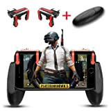 Obagool Mobile Game Controller Cell Phone Game Fire Button Aim Key Game Joystick Smart Phone PUBG/Fortnite/Rules of Survival Gaming Shooter Trigger L1R1 for Android IOS (MX+Gamepad) (Color: MX+Gamepad, Tamaño: MX+Gamepad)