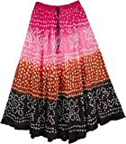 "TLB - Banjara Classic Tie Dye Skirt - L:36""; W:24""-36"""