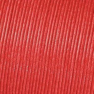 Ciré de coton cordon ø 2 mm / 6 m rouge, perles en bois