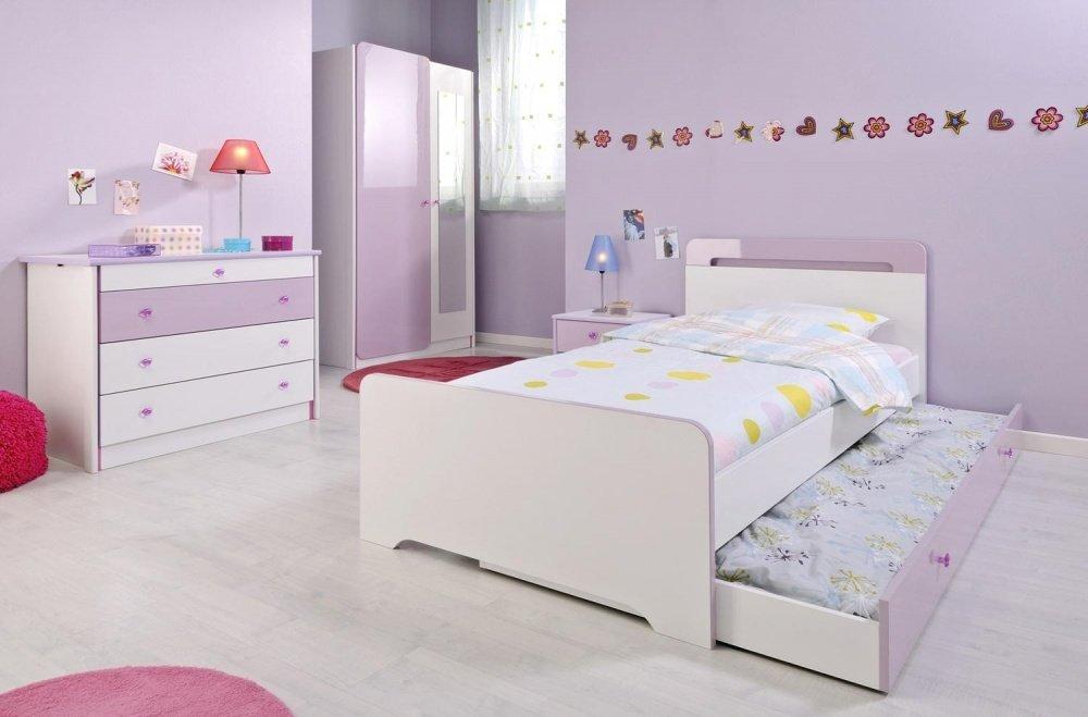 Kinderzimmer Love weiß-lila Hochglanz 5-tlg günstig kaufen