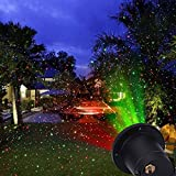 E-WOR® lumière de Noël Show Star LED projecteur avec télécommande sans fil simple d'utilisation extérieure pour Noël, vacances, fête, paysage et décoration de jardin...