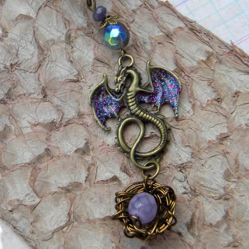 Dragon Necklace Mother Dragon With Egg And Nest Game Of Thrones Harry Potter