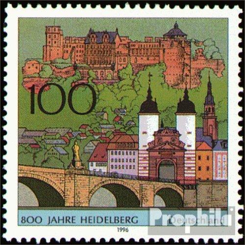 BRD (BR.Deutschland) 1868 (kompl.Ausg.) FDC 1996 800 Jahre Heidelberg (Briefmarken für Sammler)