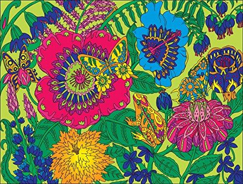 White-Mountain-Puzzles-Garden-Coloring-Puzzle-300-Piece