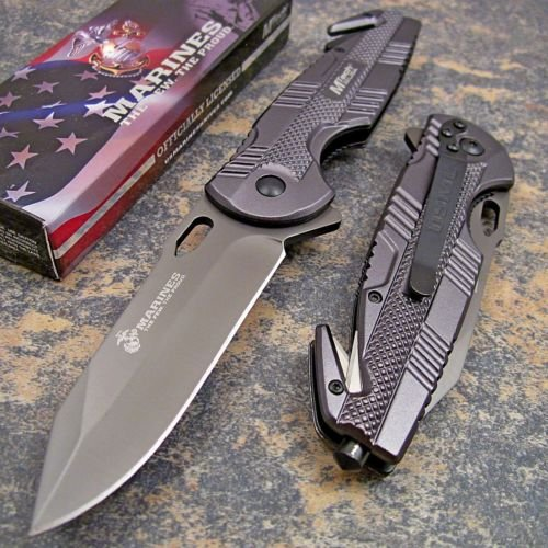 Mtech Usmc Marines Officially Licensed Rescue Knife Grey