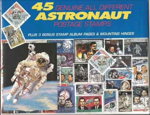 45 Genuine Postage Stamps Assortment - Astronaut - 1