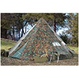 HQ ISSUE 10x10 foot Teepee Tent Camo