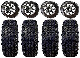 Bundle - 9 items: STI HD4 Gloss Black Golf Wheels 12\