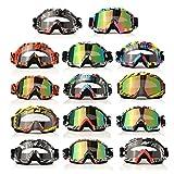 AUDEW Motorrad Goggle Motocross Wind Staubschutz Fliegerbrille Snowboardbrille Schneebrille Skibrille Wintersport Brille Dirtbike Off-Road Schutzbrille