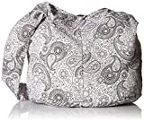 BTP! Thai Cotton Hippie Hobo Sling Crossbody Bag Messenger Purse Paisley Print Large (White PL30)