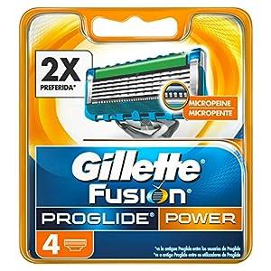 Gillette Fusion ProGlide Power Cuchillas, 4 unidades