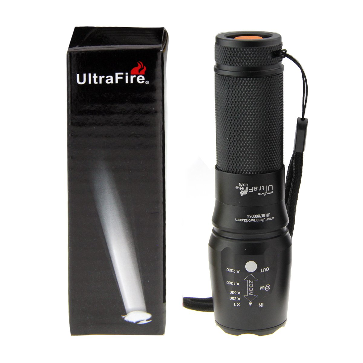 70000LM T6 Portable Ultra Bright LED Flashlight Adjustable 5 Modes Outdoor Torch