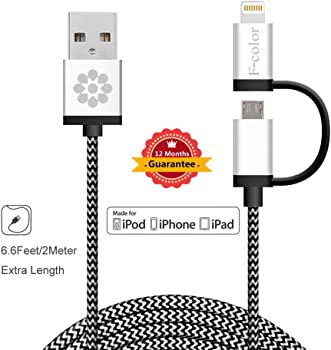 F-color 6ft Braided Lightning Cable