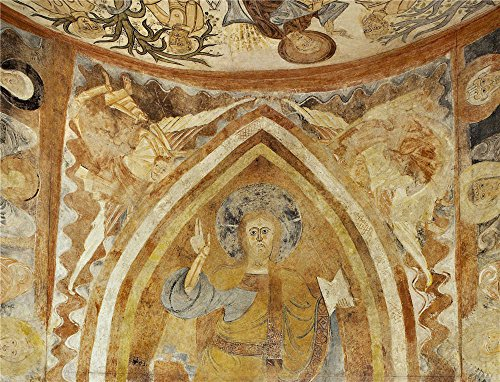 Oil Painting 'Anonymous 12 Century God The Father Held By Four Angels. The Hermitage Of The Vera Cruz De Maderuelo'
