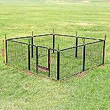 Songmics 8-tlg Welpenauslauf für Hunde Kaninchen kleine Haustiere 80 x 60 cm Farben auswählbar -