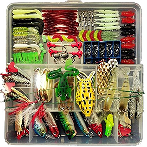 Fishing-Lure-Set-180pcs-Set-Artificial-Bait-Lure-Plastic-Fishing-Lures-Minnow-Popper-Pencil-Crank-Rattle-with-Hooks-Metal-Spoon-Hard-Baits-Fresh-Water