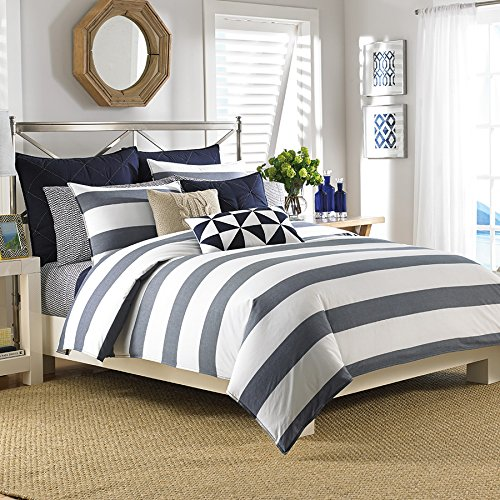 Queen Sheet Set (Nautica Lawndale Navy) back-1006852