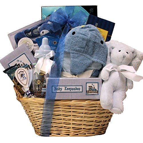 Great Arrivals Baby Gift Basket, Congratulations Baby Boy