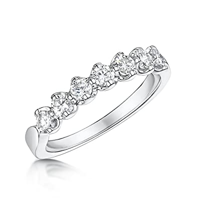 Theia 9ct White Gold - Highly Polished - Half Eternity Diamond Ring 0.50ct