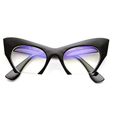 Rimless Fashion Glasses Clear Clear Lens Cat Eye Glasses