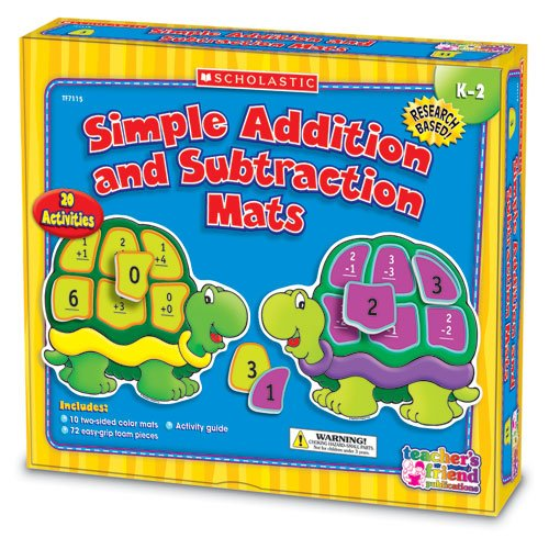 Scholastic Addition & Subtraction Mats Kit, Grades K-2 back-941846