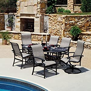 Winston Madero Sling Patio Dining Set, Outdoor Decor, Pool side Decor, Pool side seating