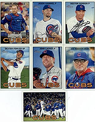 2016 Topps Heritage Chicago Cubs Team Set of 13 Cards: Miguel Montero(#48), Jason Hammel(#52), Kyle Hendricks(#59), Kris Bryant(#70), Jake Arrieta(#78), Jon Lester(#87), Kyle Schwarber/Carl Edwards Jr.(#161), Jorge Soler(#255), Joe Maddon(#263), John Lack