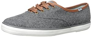 Keds Women's Champion Wool Fashion Sneaker, Charcoal, 8 M US