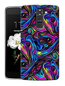 "Psychedelic Trippy Art Printed Designer Mobile Back Cover For ""LG K7"" By Humor Gang (3D, Matte Finish, Premium Quality, Protective Snap On Slim Hard Phone Case, Multi Color)"
