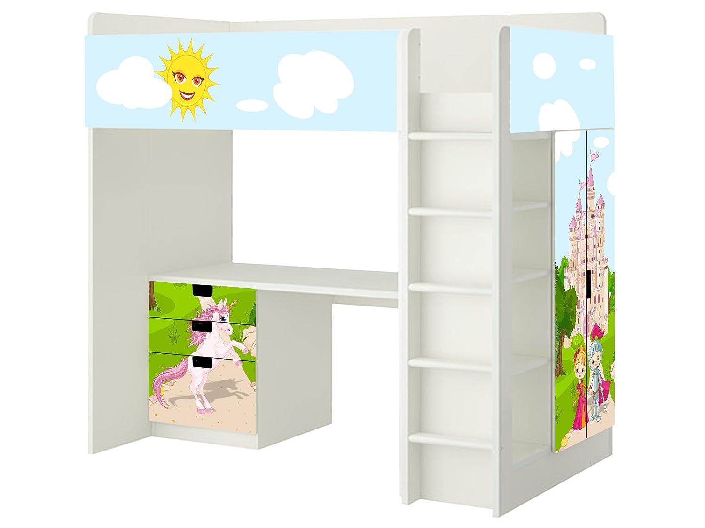 Märchenwelt Aufkleber – SH04 – passend für die Kinderzimmer Hochbett-Kombination STUVA von IKEA – Bestehend aus Hochbett, Kommode (3 Fächer), Kleiderschrank und Schreibtisch günstig kaufen