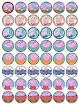 48 Peppa Pig Cupcake Toppers