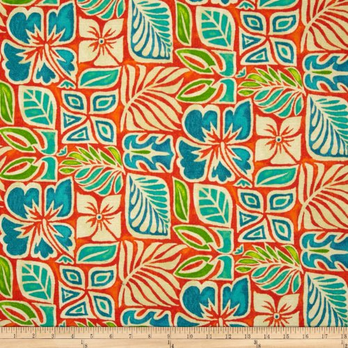 Tommy Bahama Home Sun Blocks Coral Reef Fabric front-1066107