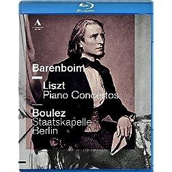 Daniel Barenboim  plays Liszt Piano Concertos [Blu-ray]