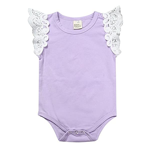 8a565b299 Mother's Angel Baby Rompers Girl Summer Infant Birthday Sleeveless Onesies  3 Colors (18-24 Months, ...
