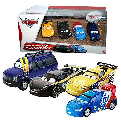 Disney Cars Cast 1:55 - Gift Pack Race Day Fan - 4 Fahrzeuge im Set
