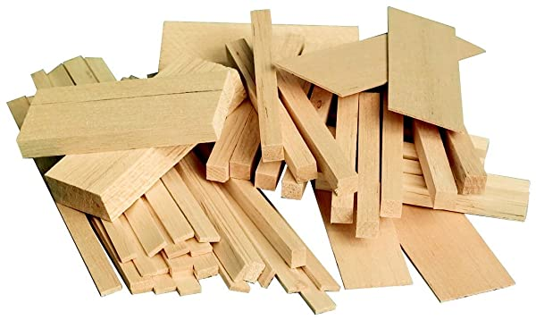 Sax Midwest Products Project Woods Balsa Economy Bag, Assorted Sizes - 407055 (Tamaño: Assorted Sizes)
