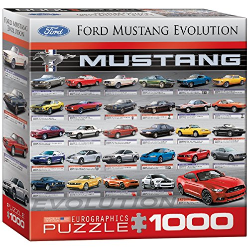 eurographics-puzzle-1000-pc-ford-mustang-evolution-50th-ls-8x8-box-mo-eg80000684