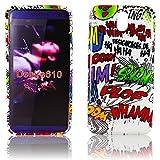Thematys Silicone Protective Phone Case in Comic Book Design for HTC Desire 610