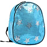 Princess Blue Sequin Silver Star Backpack