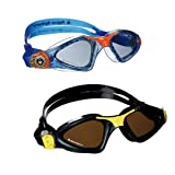Aqua Sphere Kayenne Swim Goggles. Adult & Junior Bundle for Parents and Kids. (2 Pair) (Tamaño: One Size)