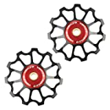 Venzo Sealed Bearing Compatible with Shimano Sram 11 Speed Bike Rear Derailleur Pulley Set (Color: default)