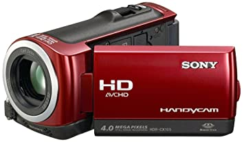 sony hdr cx105er hd camcorder 2 7 zoll rot us262. Black Bedroom Furniture Sets. Home Design Ideas